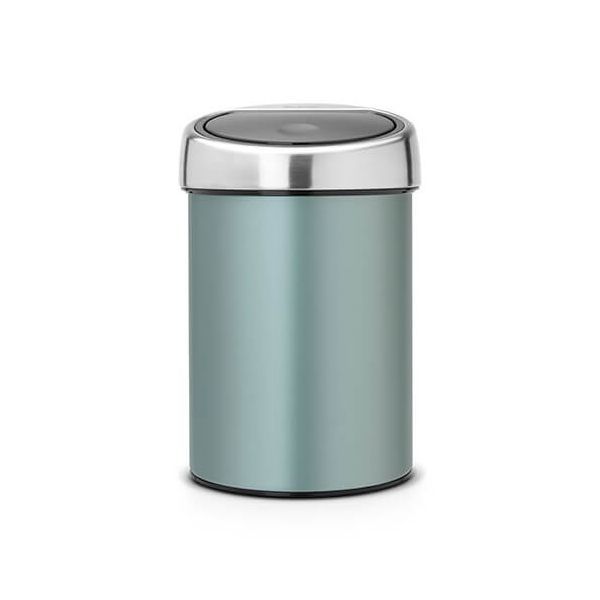 Brabantia Touch Bin 3 Litre Metallic Mint / Matt Steel Lid