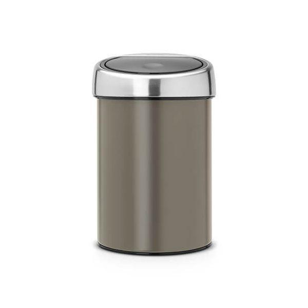 Brabantia Touch Bin 3 Litre Platinum / Matt Steel Lid