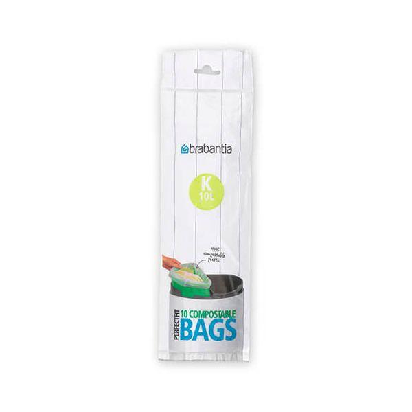 Brabantia Compostable Perfectfit Bags Size K 10 Litre 10 Bag Roll