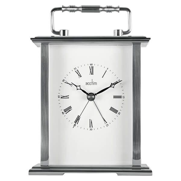 Acctim Gainsborough Mantel Clock Silver