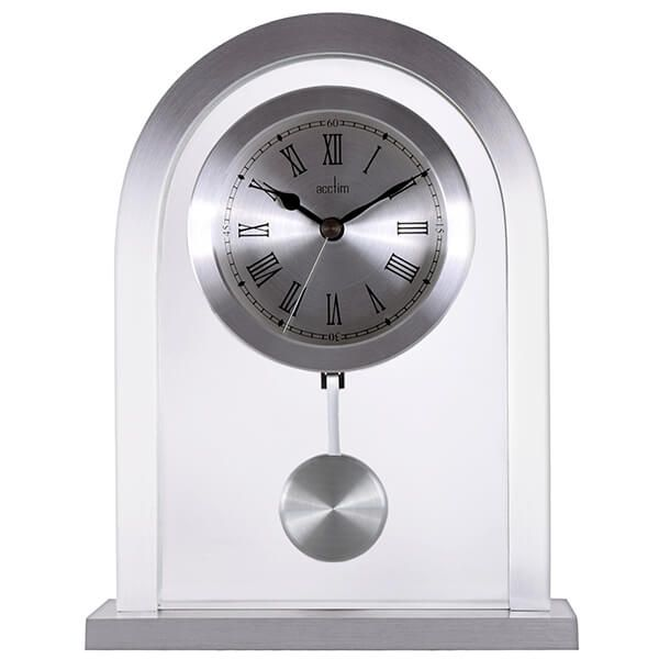 Acctim Bathgate Mantel Clock Silver