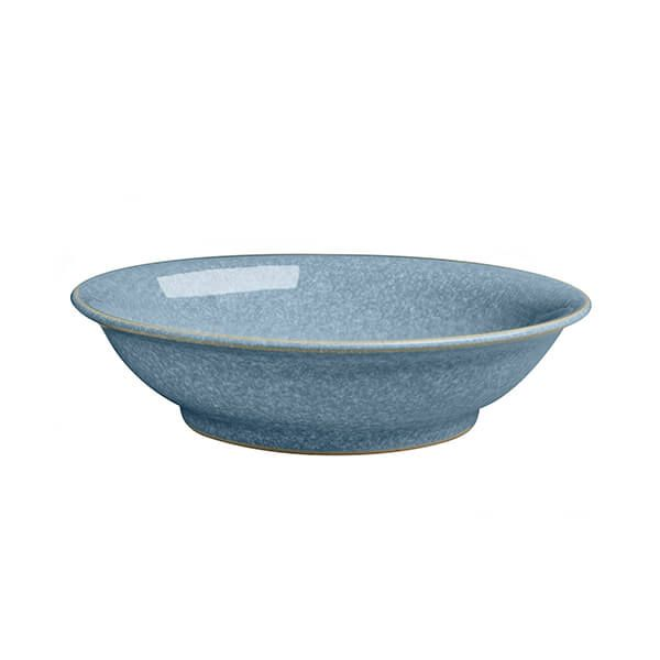 Denby Elements Blue Medium Shallow Bowl