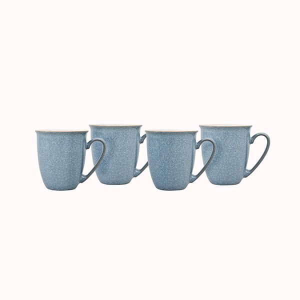 Denby Elements Blue Set Of 4 Coffee Mugs