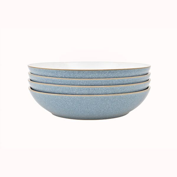 Denby Elements Blue Set Of 4 Pasta Bowls