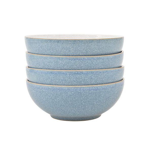 Denby Elements Blue Set Of 4 Cereal Bowl