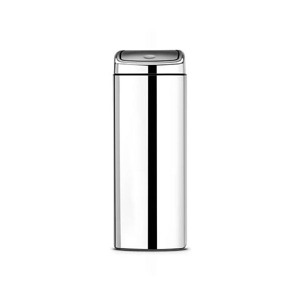 Brabantia 25 Litre Rectangular Touch Bin Brilliant Steel