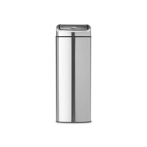 Brabantia 25 Litre Rectangular Touch Bin Matt Steel Fingerprint Proof