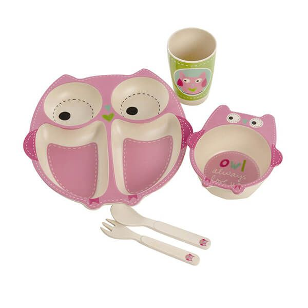 Epicurean Owl Bamboo Kids 5 Piece Set