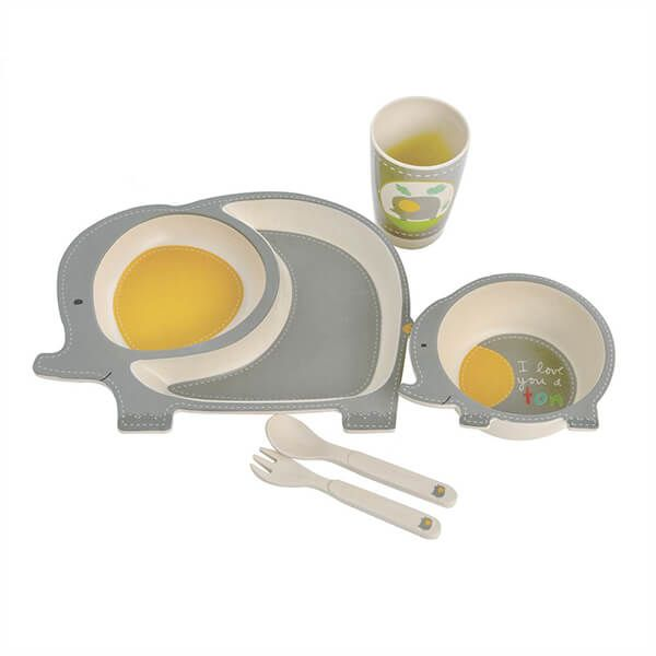 Epicurean Elephant Bamboo Kids 5 Piece Set