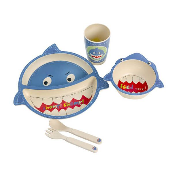 Epicurean Shark Bamboo Kids 5 Piece Set