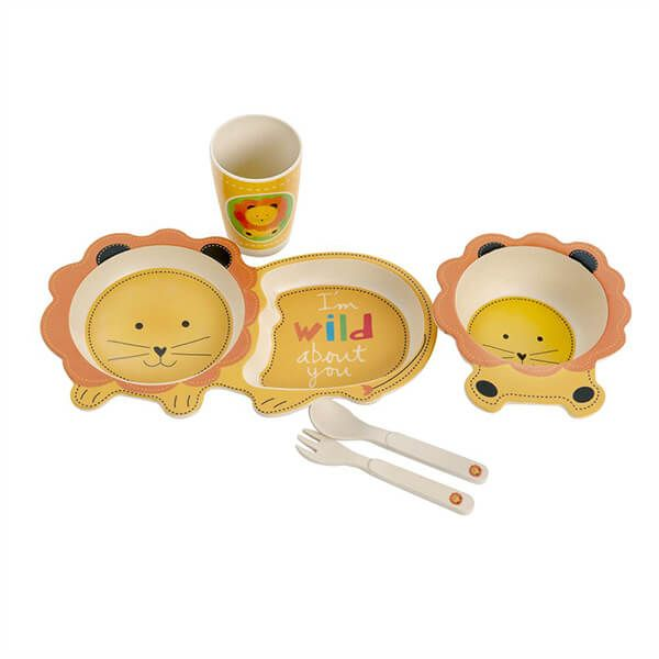 Epicurean Lion Bamboo Kids 5 Piece Set
