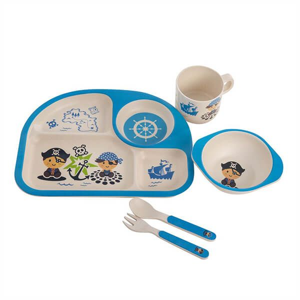 Epicurean Pirate Bamboo Kids 5 Piece Set