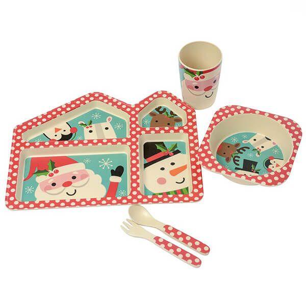 Eddingtons Santa And Friends Kids Bamboo 5 Piece Set