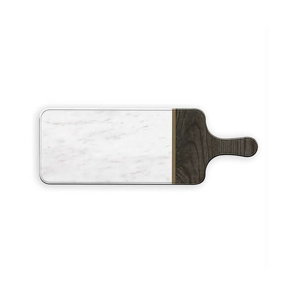 Epicurean Melamine Large Marble Teak Server