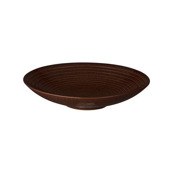 Denby Studio Craft Walnut Medium Ridged Bowl