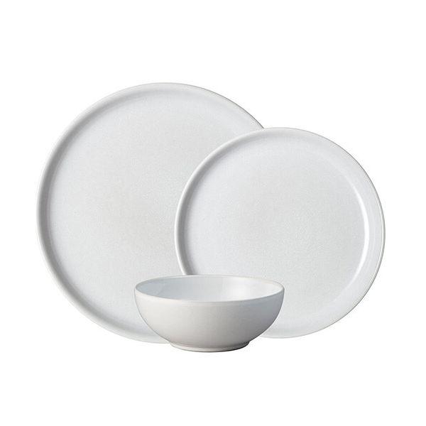 Denby Intro Stone White 12 Piece Tableware Set