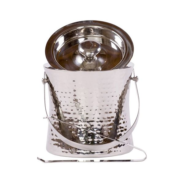 Epicurean Hammered Steel Ice Bucket
