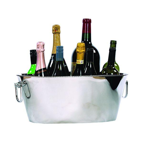 Epicurean Regal Polished Steel 12 Bottle Champagne / Wine Cooler