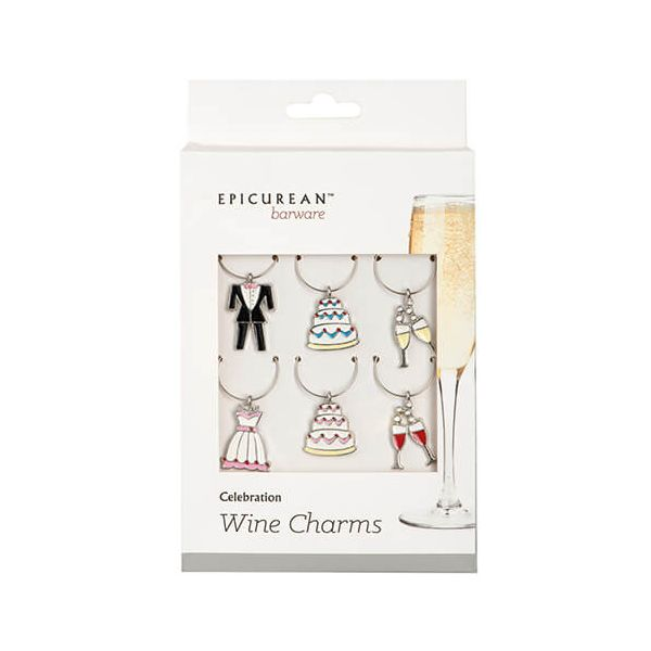 Epicurean Barware Celebration Wine Charms