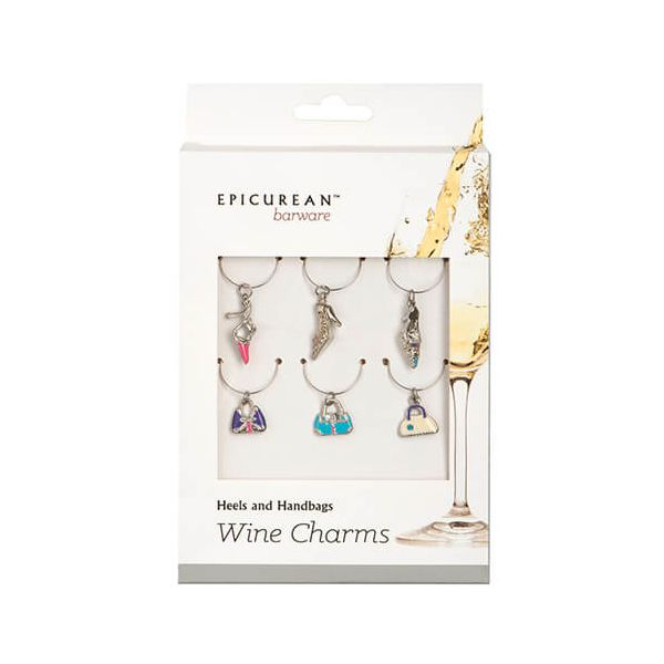 Epicurean Barware Heel & Handbags Wine Charms