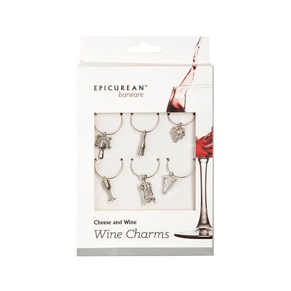 Epicurean Barware Cheese & Wine Wine Charms