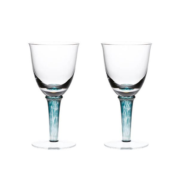 Denby Greenwich / Regency Green Pack Of 2 White Wine Glasses