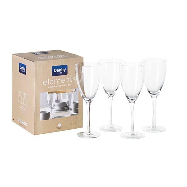 Denby Elements Set Of 4 Wine Glasses