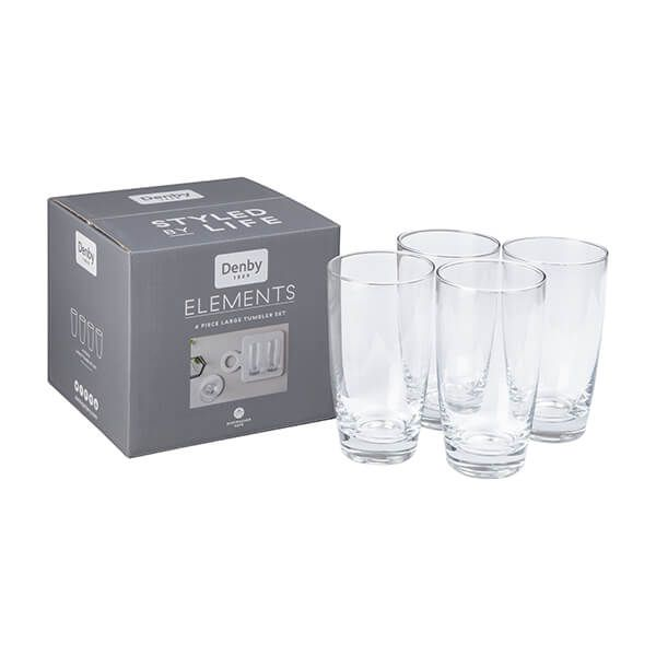 Denby Elements Set Of 4 Large Tumblers