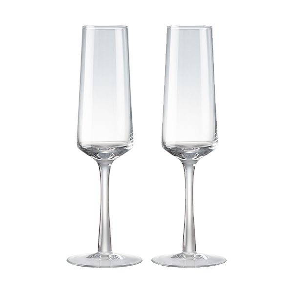 Denby Natural Canvas Set Of 2 Champagne Flutes
