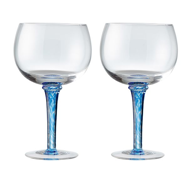 Denby Imperial Blue Set Of 2 Gin Glasses