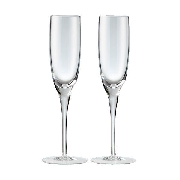Denby China Set Of 2 Champagne Flutes