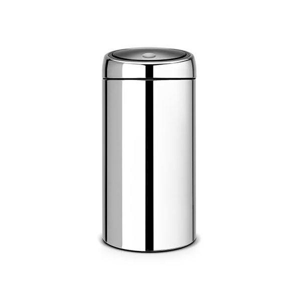 Brabantia Touch Bin Recycle 20 + 20 Litre Brilliant Steel