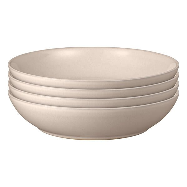 Denby Intro Warm Taupe 4 Piece Pasta Bowl Set