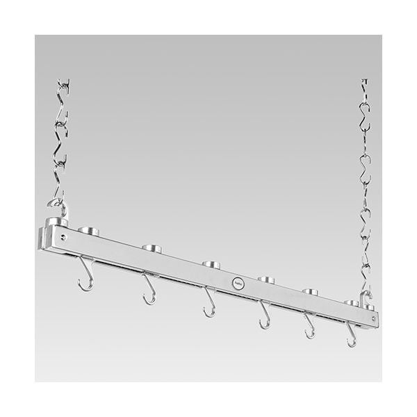 Hahn Chrome Metal Single Bar Hanging Rack