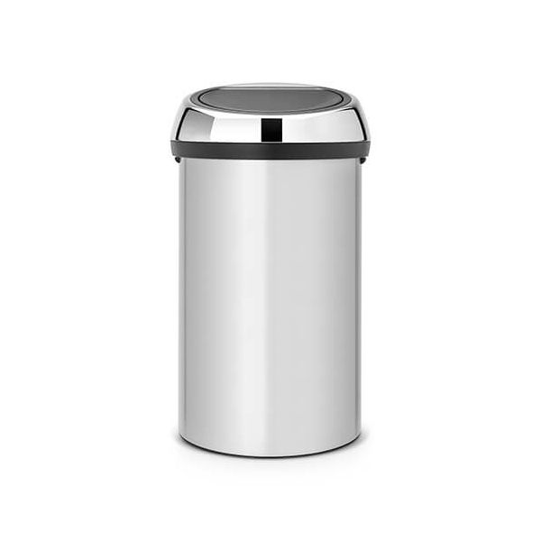 Brabantia Touch Bin 60 Litre Metallic Grey / Brilliant Steel
