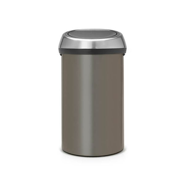 Brabantia Touch Bin 60 Litre Platinum / Matt Fingerprint Proof Steel