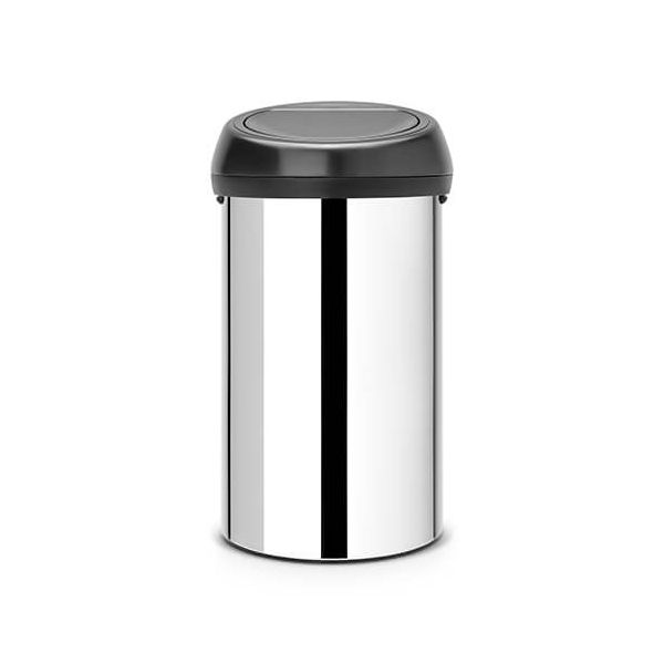 Brabantia Touch Bin 60 Litre Brilliant Steel / Matt Black