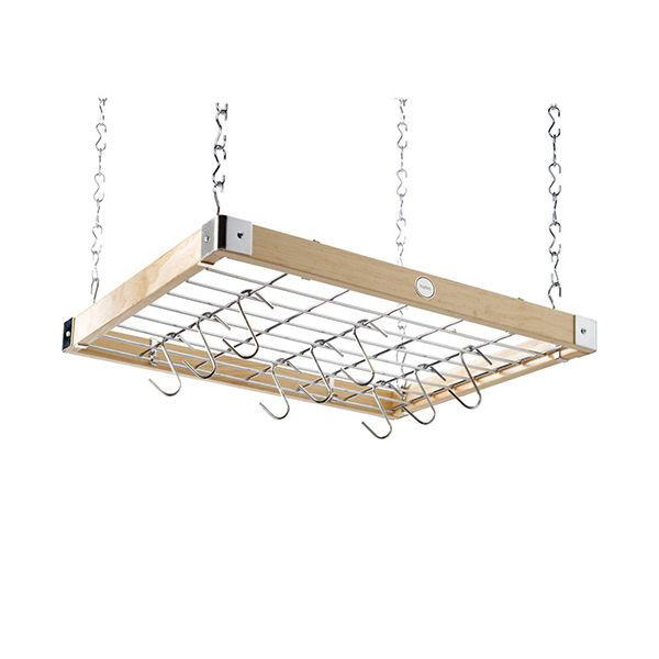 Hahn Natural Wood Ceiling Rack