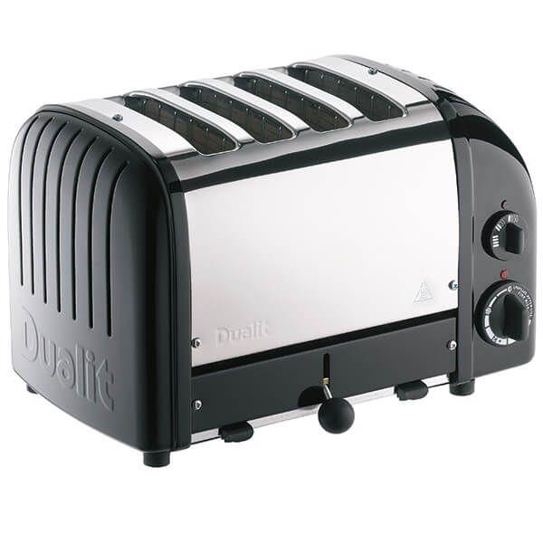 Dualit Classic Vario AWS Satin Black 4 Slot Toaster