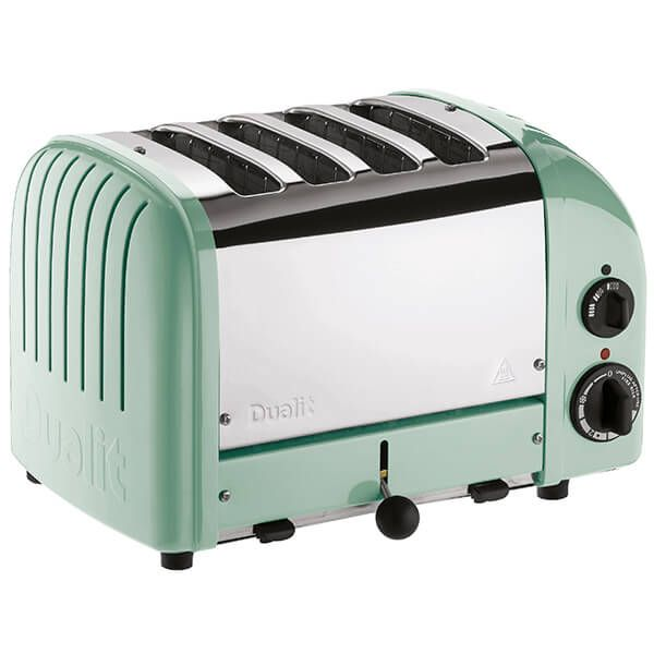 Dualit Classic Vario AWS Mint Green 4 Slot Toaster With Free Gift