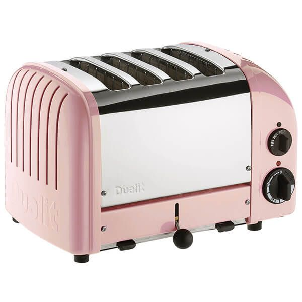 Dualit Classic Vario AWS Petal Pink 4 Slot Toaster With Free Gift