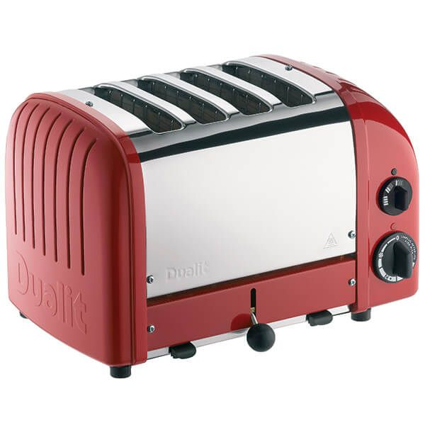 Dualit Classic Vario AWS Red 4 Slot Toaster With Free Gift