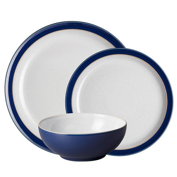 Denby Elements Dark Blue 12 Piece Tableware Set