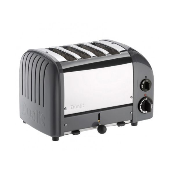 Dualit Classic Vario AWS Cobble Grey 4 Slot Toaster With Free Gift