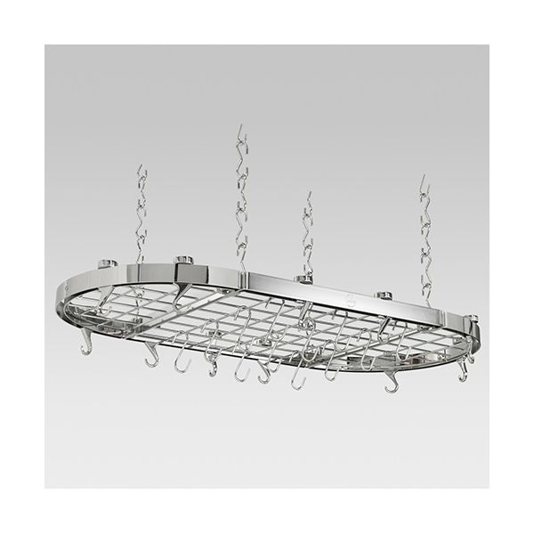 Hahn Chrome Metal Oval Ceiling Rack