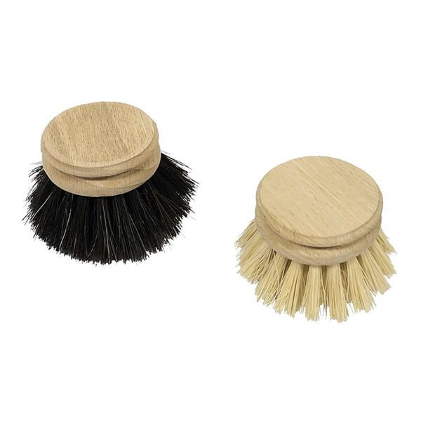 Valet Dishbrush Replacement Heads (Horse Hair & Plant Fibre)