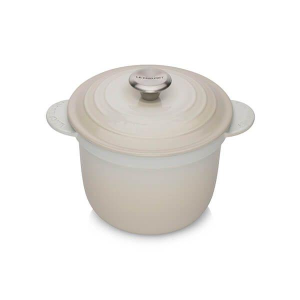 Le Creuset Cast Iron Cocotte Every 18cm Rice Pot Meringue