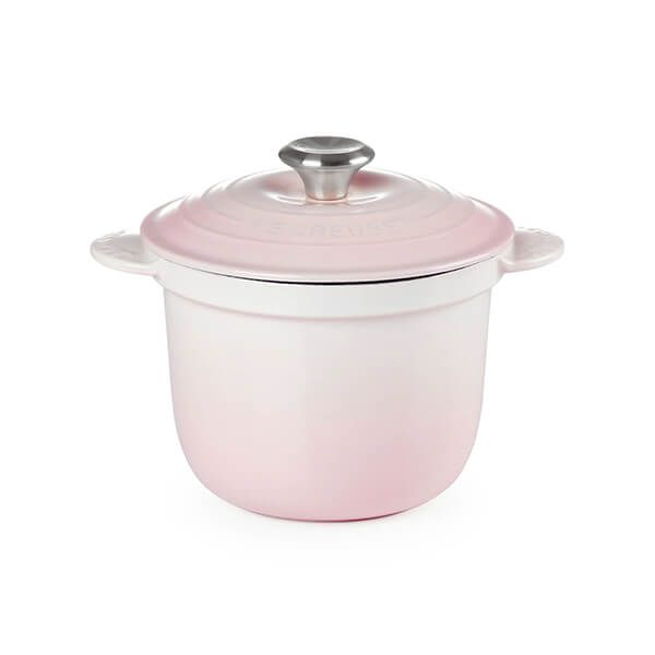 Le Creuset Cast Iron Cocotte Every 18cm Rice Pot Shell Pink