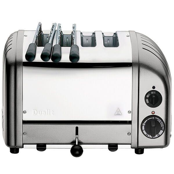 Dualit Classic Combi Vario AWS Metallic Silver 2x2 Slot Toaster