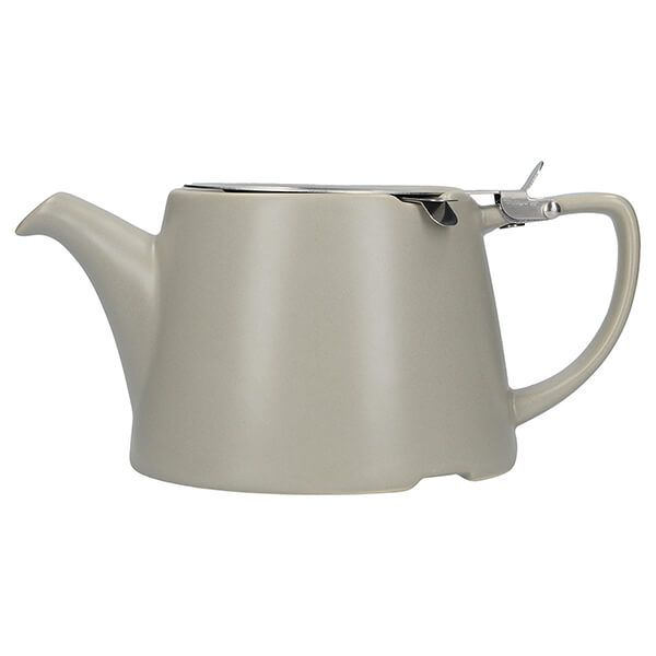 London Pottery Oval Filter 3 Cup Teapot Satin Grey
